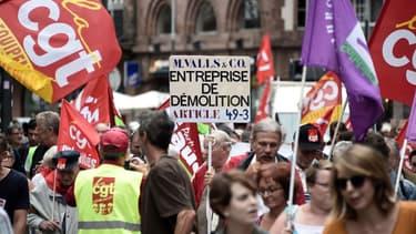 La CGT recense 5.000 manifestants de moins qu'en juillet
