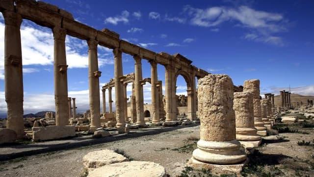 La cité antique de Palmyre en Syrie est aux mains du groupe Etat islamique depuis mai 2015.