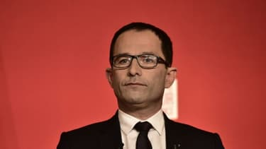 Benoît Hamon à Paris, le 23 avril 2017