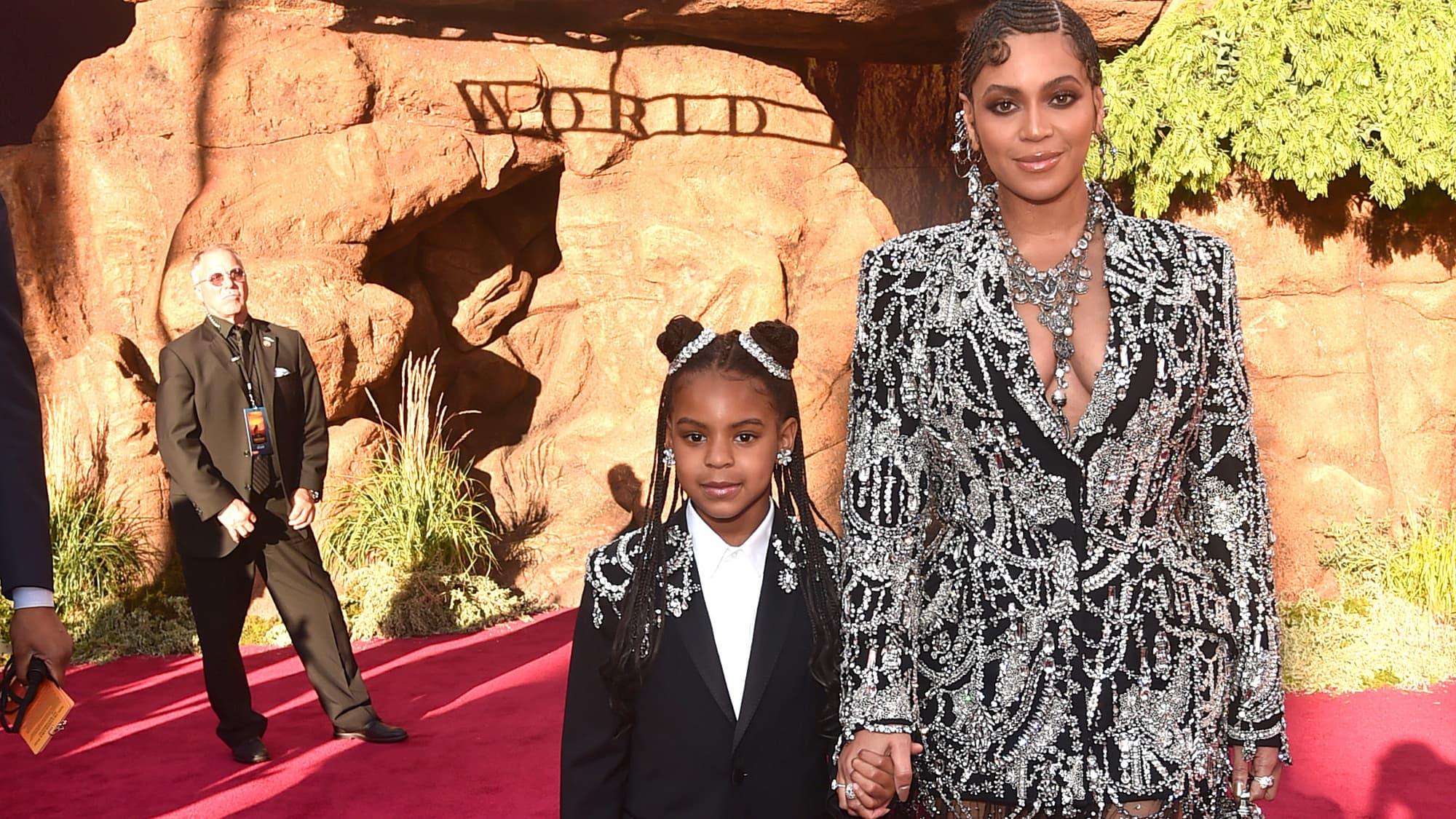 Beyoncé: sa fille Blue Ivy, 9 ans, apparaît dans la dernière campagne de publicité de sa marque - BFMTV