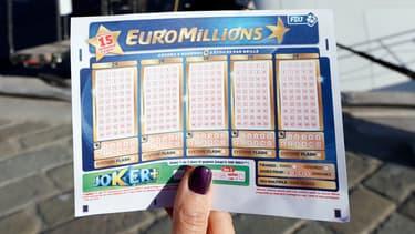 Grille du jeu Euromillions. (illustration)