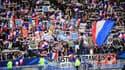 Des supporters tricolores lors de France-Islande en 2019