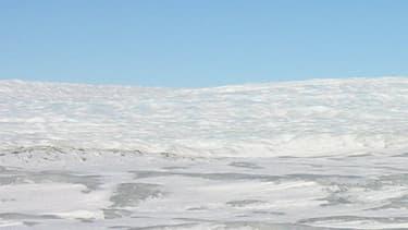 Glaces du Groenland. (illustration)