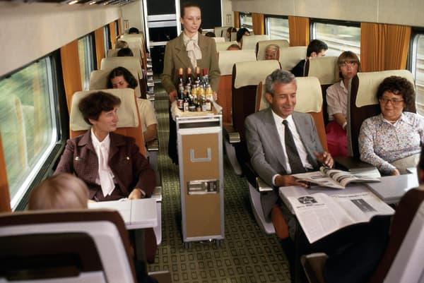 Le service à bord des premiers TGV