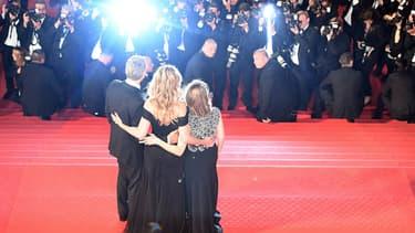 Le tapis rouge et les célèbres marches du Festival de Cannes -  Antonin Thuilllier - AFP
