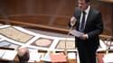 Manuel Valls lors des questions à l'Assemblée, mercredi 10 septembre.