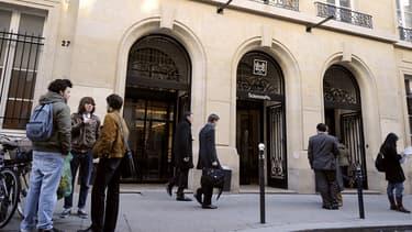 L'entrée de Sciences Po Paris, le 15 janvier 2009.