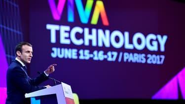 Emmanuel Macron au salon Viva Technology, le 15 juin 2017