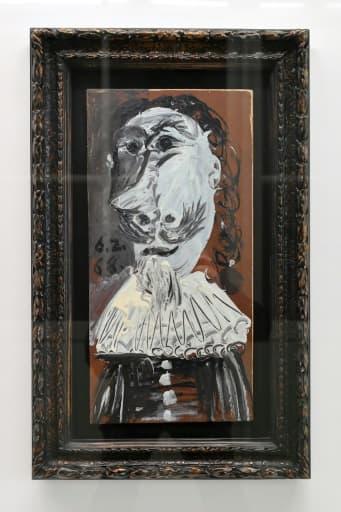 """""""Buste de mousquetaire"""" de Pablo Picasso dont 25.000 internautes se sont portés acquéreurs. Le Musée d'art moderne et contemporain de Genève leur ouvre ses portes le 27 avril 2018 pour admirer l'oeuvre"""