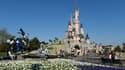 Le château de la Belle au bois dormant à Disneyland Paris, le 26 mars 2017.