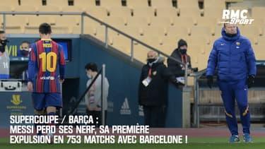 Barça : Messi perd ses nerfs, sa première expulsion en 753 matchs avec Barcelone !