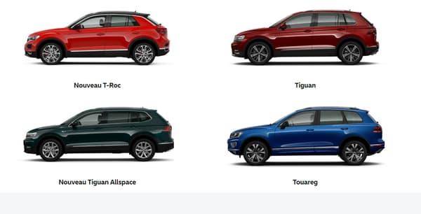 Un SUV tous les 20 centimètres. Telle est la nouvelle règle chez Volkswagen.