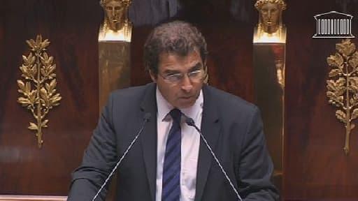 Le chef de file des députés UMP, Christian Jacob, ce mercredi à la tribune de l'Assemblée.
