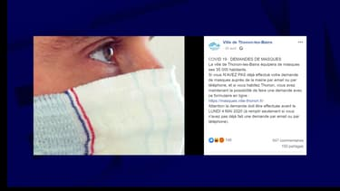 Des habitants de Thonon-les-Bains critiquent les masques lavables qui ont été distribués par la mairie.