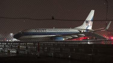 L'avion de Mike Pence, le colistier de Donald Trump, a fait une sortie de piste à l'aéroport La Guardia de New York le 27 octobre 2016