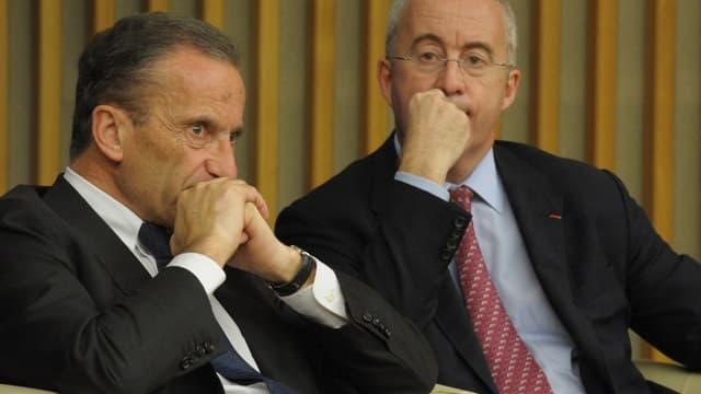 Henri Proglio (à gauche) et Luc Oursel vont respectivement quitter EDF et Areva.