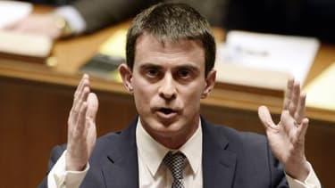 Manuel Valls s'exprimait mardi devant les députés.