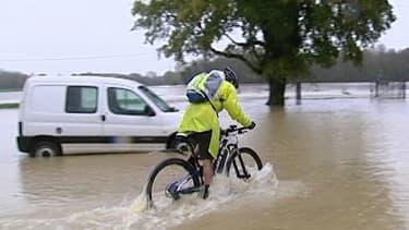 Inondation à Fontaines en Saône-et-Loire, mardi.