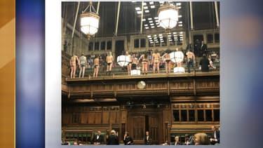 Des activistes d'Extinction Rebellion s'invitent au Parlement britannique, le 1er avril 2019
