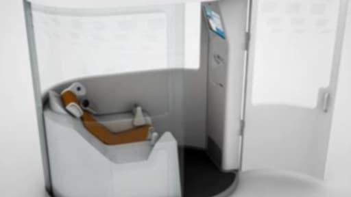 Une cabine de télésanté.