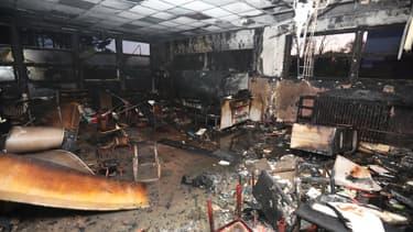L'école maternelle Jeanne Hachette de Lille après l'incendie.