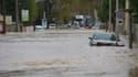 Des inondations à Trèbes (Aude), le 15 octobre 2019.