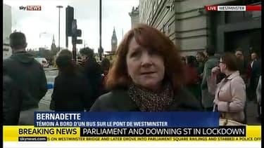 Bernadette a été témoin de l'attaque sur le pont de Westminster mercredi 22 mars.