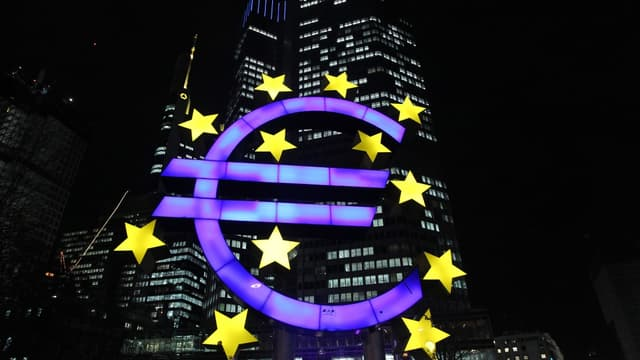 Le bâtiment de la Banque centrale européenne à Francfort en Allemagne.