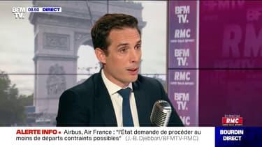 Jean-Baptiste Djebbari, secrétaire d'État chargé des Transports était l'invité de Jean-Jacques Bourdin pour BFMTV et RMC ce mercredi.
