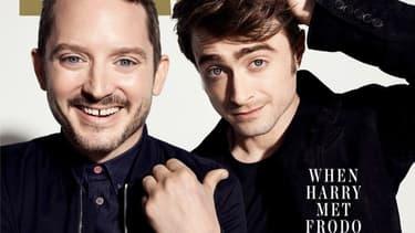 """Elijah Wood et Daniel Radcliffe sur la couverture d'""""Empire"""""""