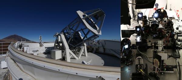 Le télescope GREGOR situé à l'observatoire du Teide, dans les îles Canaries.