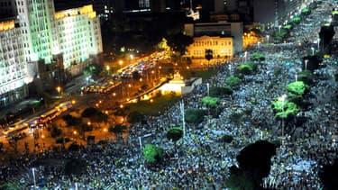 Manifestation de masse le 20 juin à Rio de Janeiro.