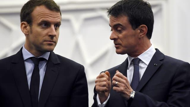 Emmanuel Macron et Manuel Valls sont en opposition.