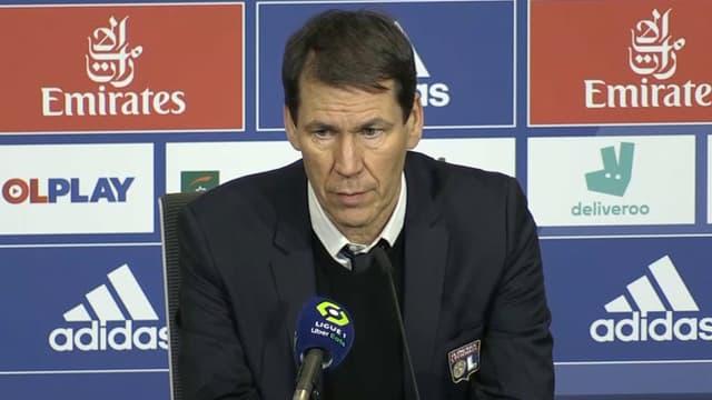 Rudi Garcia après le match OL-Montpellier, à Lyon le 13 février 2021
