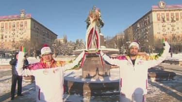 La flamme olympique a fait escale lundi 20 janvier à Volgograd, en Russie
