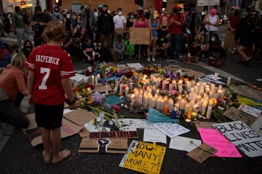 Hommage et veillées à Los Angeles, le 7 juin 2020  pour les victimes de violences policières