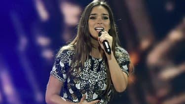 Alma lors de la demi-finale de l'Eurovision, à Kiev.