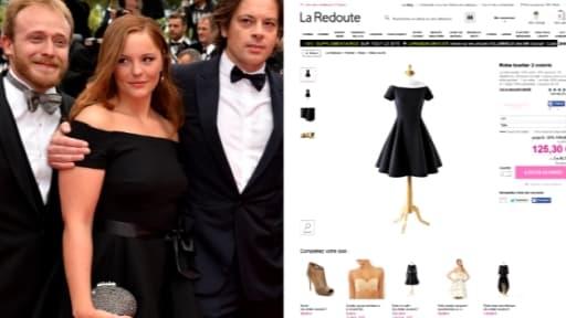 Barbara Probst arborait à Cannes une robe que tout à chacun peut acheter sur le site de La Redoute.