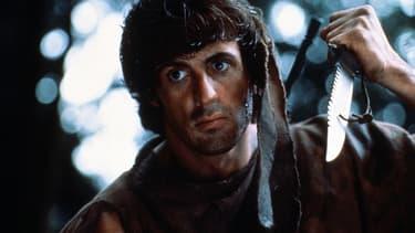 "Sylvester Stallone dans ""Rambo"", sorti en 1983 en France."
