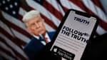 Donald Trump, lors de l'annonce du lancement de son réseau social le 20 octobre 2021