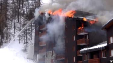 Un important incendie est survenu, ce lundi, dans une grande résidence de tourisme de Val d'Isère.