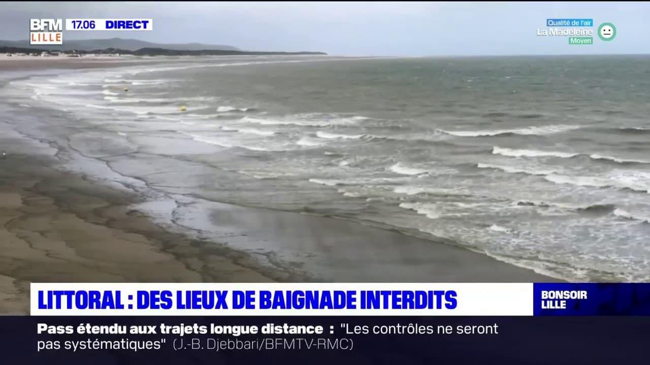 Côte d'Opale: plusieurs lieux interdits à la baignade