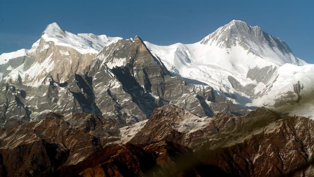 Le massif de l'Annapurna, un des plus hauts sommets de l'Himalaya