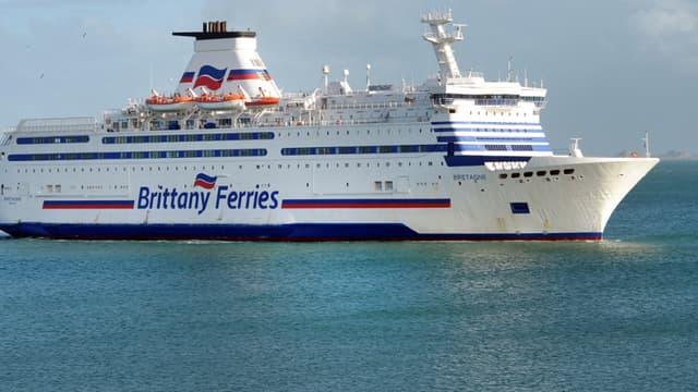 Image d'illustration d'un ferry sur la Manche