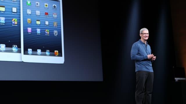 Tim Cook lors d'une Keynote présentant ses nouveaux iPad, il y a deux ans.