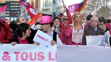 Mariage homo: la rue divisée