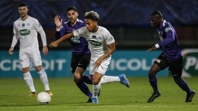 Boubacar Kamara et les Marseillais ont élé éliminés par les amateurs de l'AS Canet vainqueurs à domicile 2-1 en Coupe de France, le 7 mars 2021