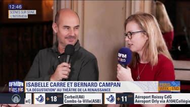 """Scène sur Seine : L'interview de Isabelle Carré et Bernard Campan, à l'affiche de """"La dégustation"""" au Théâtre de La Renaissance"""