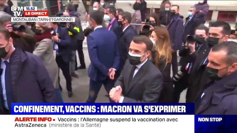 Emmanuel Macron en déplacement à Montauban: