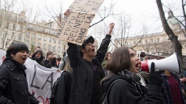 Les lycéens mulhousiens avaient déjà manifesté jeudi. Image d'illustration.